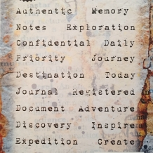 Journal Jargon Threee Cling Rubber Stamp Set
